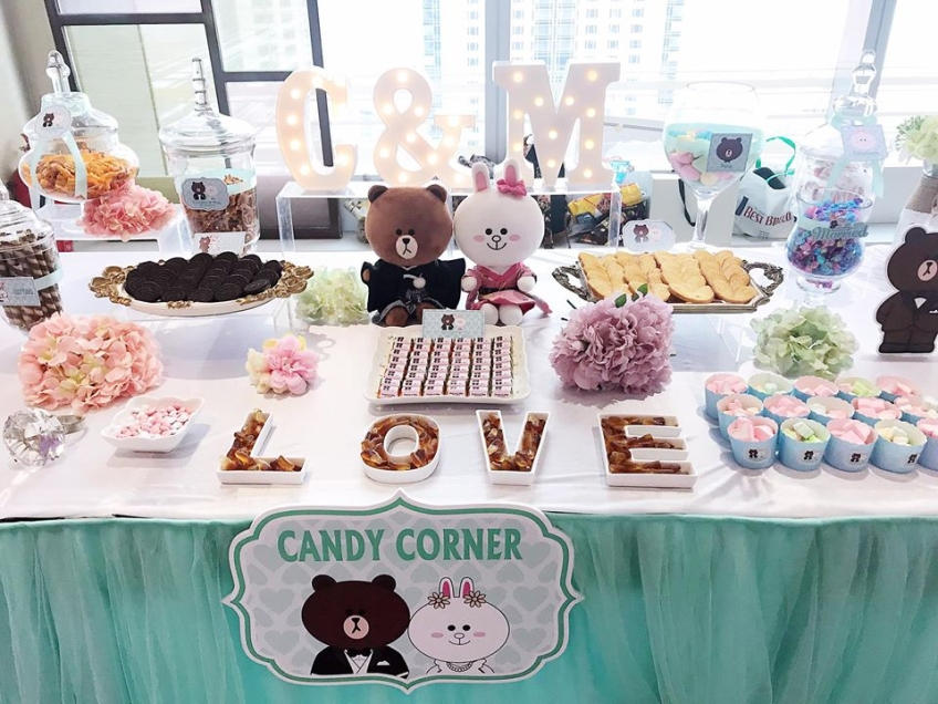 Sweet Wedding Hong Kong - Candy Corner, Decoration and Wedding Guest Book-1-婚禮當日